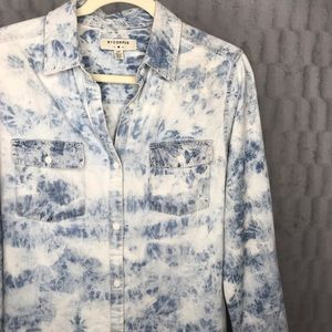 UO | By Corpus Acid Wash Button Down Long Sleeve